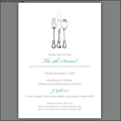 Dinner Invitation Template Free Invitation Ideas