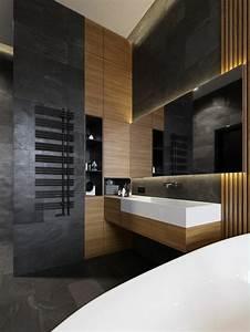 Carrelage Noir Salle De Bain : 1001 id es pour cr er une salle de bain nature ~ Dailycaller-alerts.com Idées de Décoration