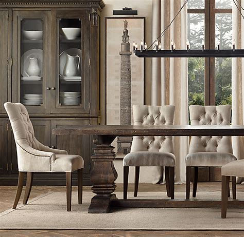 martine upholstered dining chair set   arm   side