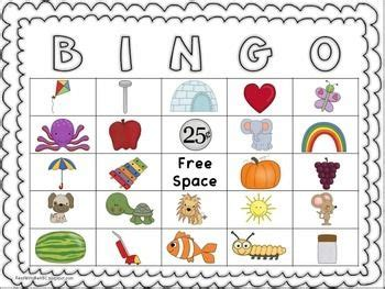initial sound bingo  images initial sounds letter