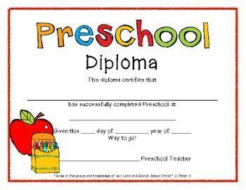 preschool diploma template preschool graduation diplomas preschool graduation graduation and preschool