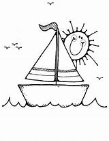 Boat Coloring Pages Boats Colouring Printable Transportation Water Transport Sailboat Cartoon Yacht Sail Ship Copy Truck Sheets Sailing Pirate Clipart sketch template