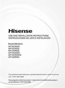 Hisense Ap12cr2g Portable Air Conditioner 115 Volt User