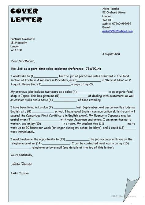 cover letter worksheet  esl printable worksheets