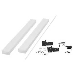 Decking Lowes by Shop Fiberon White Railing Gate Frame Kit At Lowes Com