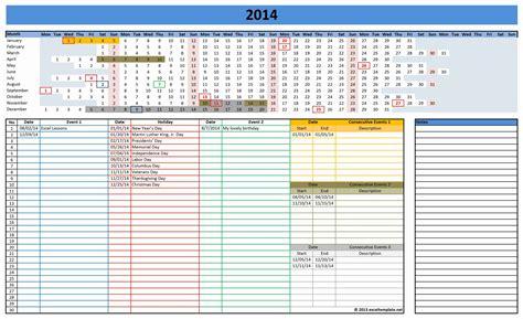 Schedule Template For Excel Excel Calendar 2014 Calendar Template Site