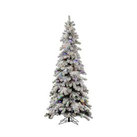 lowes white 9 ft slim white christmas shop vickerman 8 ft pre lit spruce flocked slim artificial tree with white led lights