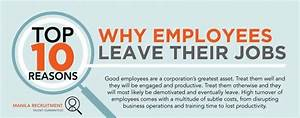 Good Reasons For Leaving A Job On An Application Top 10 Reasons Why Employees Leave Their Job Infographic