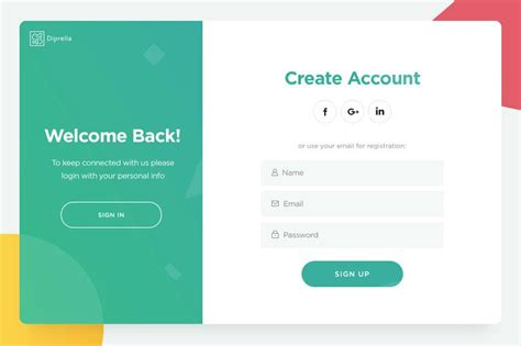 25 login registration forms with creative designs