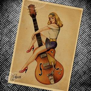 Aliexpress com : Buy Music guitar Vintage poster retro