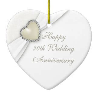 30th wedding anniversary 30th wedding anniversary ornaments keepsake ornaments zazzle