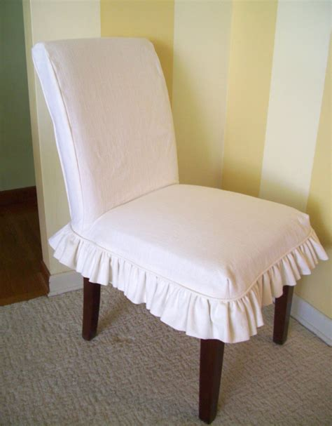 parsons chairs with slipcovers linen parsons chair slipcover ruffled skirt dining chair