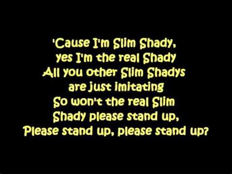 Real Slim Shady Please Stand Up by Eminem The Real Slim Shady Curtain Call The Hits