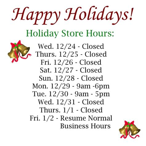 holiday store hours furniture finesse york pa