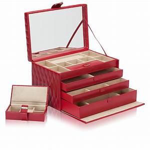 Boite A Bijoux Cuir : large boite bijoux cuir rouge caroline wolf ocarat ~ Teatrodelosmanantiales.com Idées de Décoration
