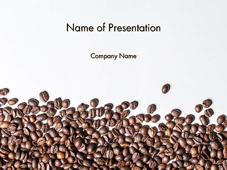 scattered coffee beans background powerpoint template
