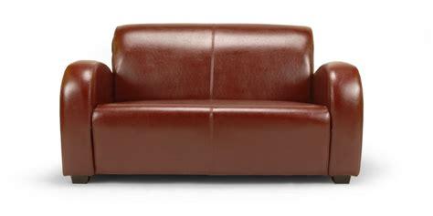 petit canapé cuir 2 places petit canapé en cuir soledad