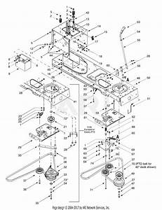 Mtd 13au604h401  2001  Parts Diagram For Power Take