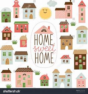 Home Sweet Home Illustration Stock Vector 181052390 ...