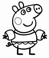 Pig Coloring Pages Peppa Clipartmag sketch template