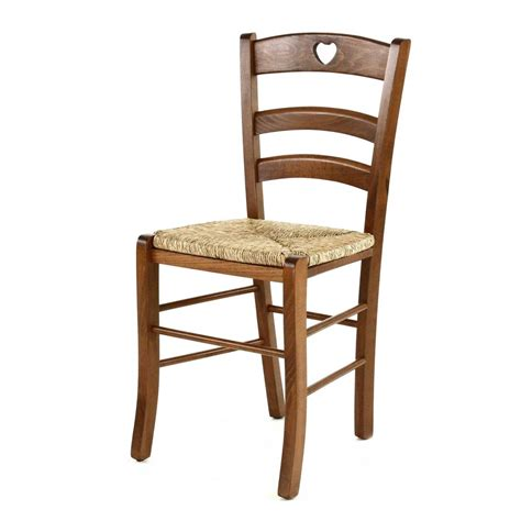 chaise solide chaise rustqiue pin massif cœur assise paille grenier alpin