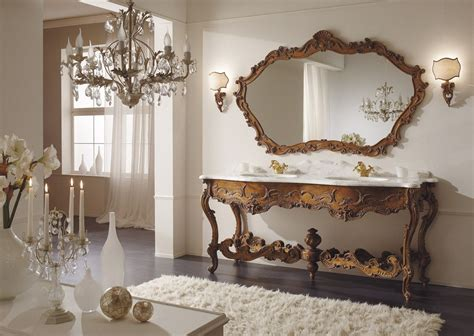 Badezimmer MÖbel Massiv Holz Bad Italien Barock Nostalgie