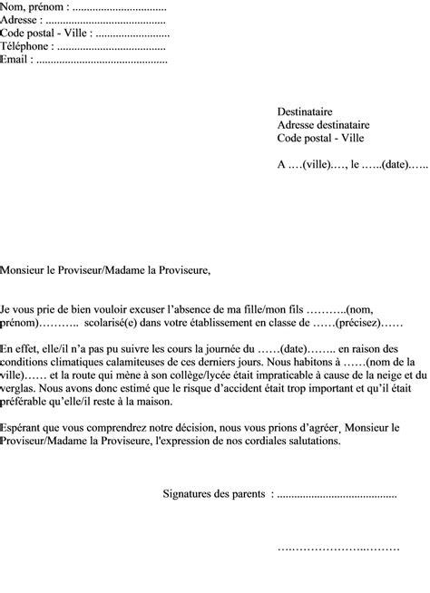 modele de lettre pour reprendre nom de fille lettre d excuse d absence scolaire