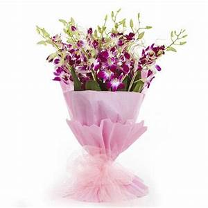 Purple Orchid Bouquet | Buy Gifts Online