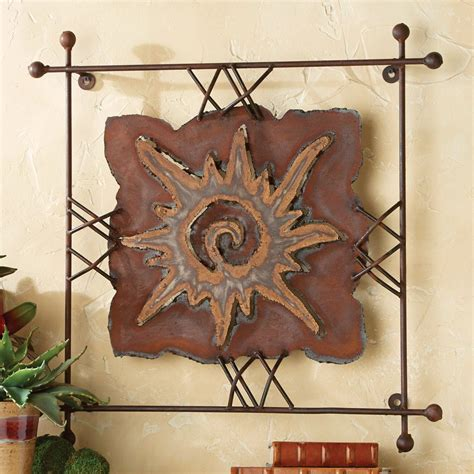 Enjoy free shipping & browse our great selection of wall art & coverings, all wall art, canvas art and more! Rustic Metal Wall Art: Small Sun Rawhide Metal Wall Art