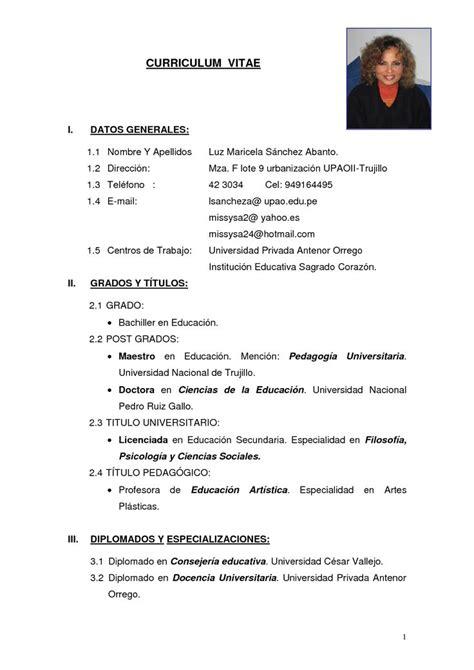 modelo de curriculum vitae resume template pinterest