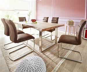 Möbel 24 Shop : baumtisch kessryn 200x100 cm akazie natur metallkufen deluxe dining pinterest baumtisch ~ Indierocktalk.com Haus und Dekorationen