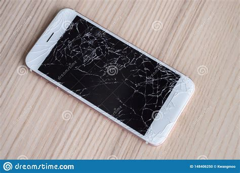 Free for commercial use no attribution required high quality images. Broken Glass Of Mobile Phone Screen On Wood Background Stock Photo - Image of dropped, damage ...