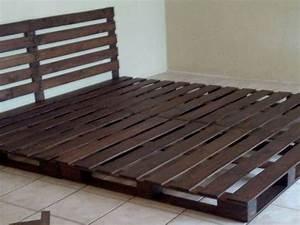 Comment Faire Une Tete De Lit : gros plan sur la facon de faire un lit en palette ~ Preciouscoupons.com Idées de Décoration