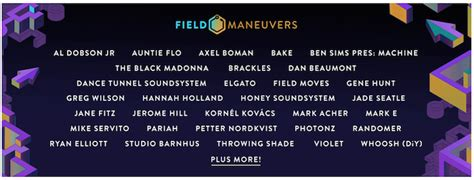 Field Maneuvers Adds The Black Madonna, Mike Servito