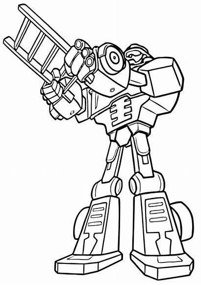 Rescue Bots Coloring Transformers Rescuebots