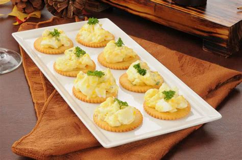herbed egg canapé recipe with dijon mustard by archana 39 s