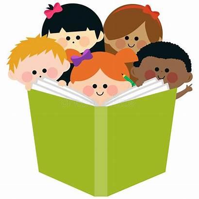 Clipart Che Reading Bambini Leggono Libro Lesen