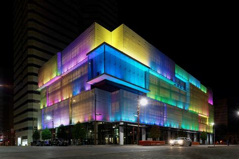 Light Show Houston by Downtown S Lyric Market Light Show Soon To Be One Of The
