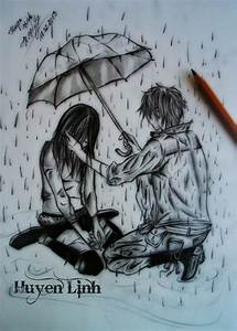Sad Girl In Rain Drawing | www.pixshark.com - Images ...