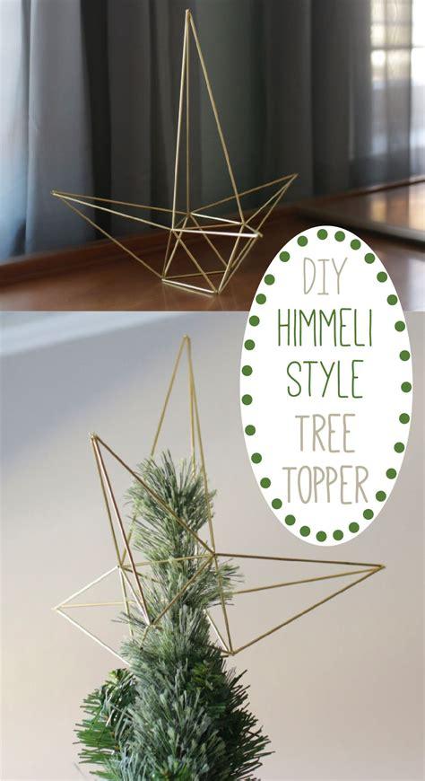 diy himmeli style christmas star tree topper editors