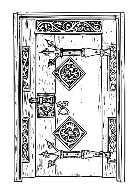 coloring page  door img  images