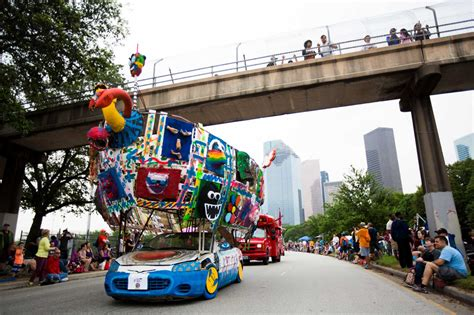 houstons coolness display art car parade beaumont enterprise