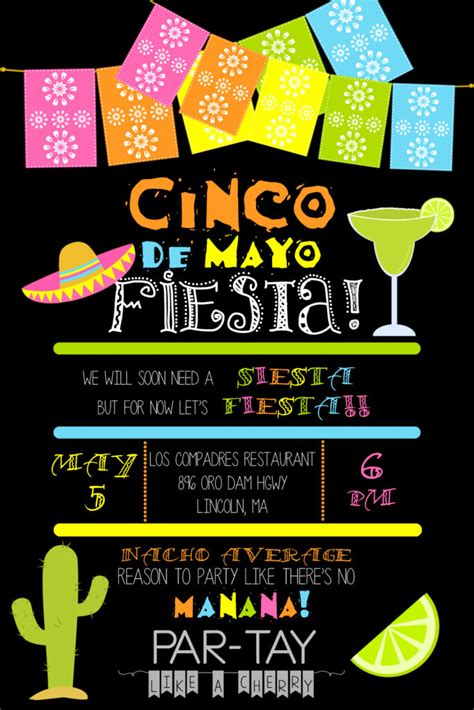 Cinco de Mayo Invitation Template - Party Like a Cherry