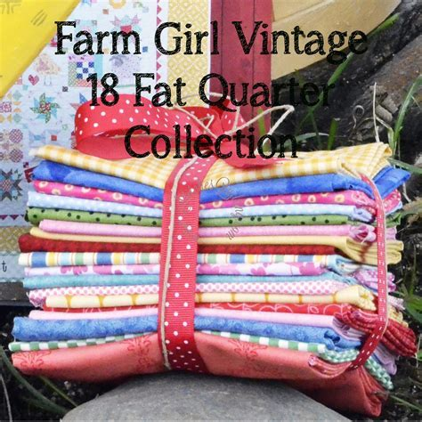 18 Fat Quarter Fabric Bundle for Farm Girl Vintage Book by
