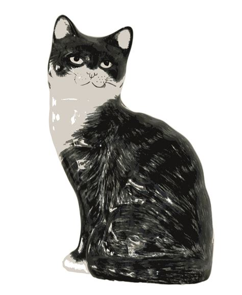 Cat Black And White Clip Art Images Download🤷