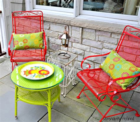 Metal Patio Furniture Paint by Serendipity Refined Wicker And Wrought Iron Patio