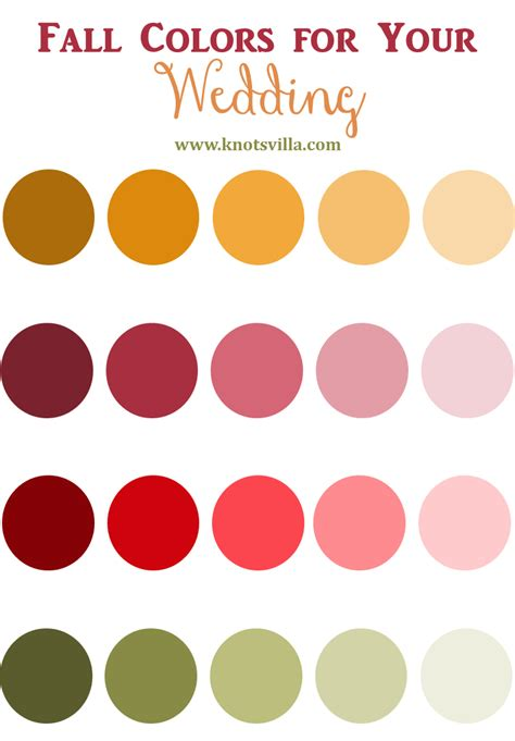 Fall Wedding Colors   KnotsVilla