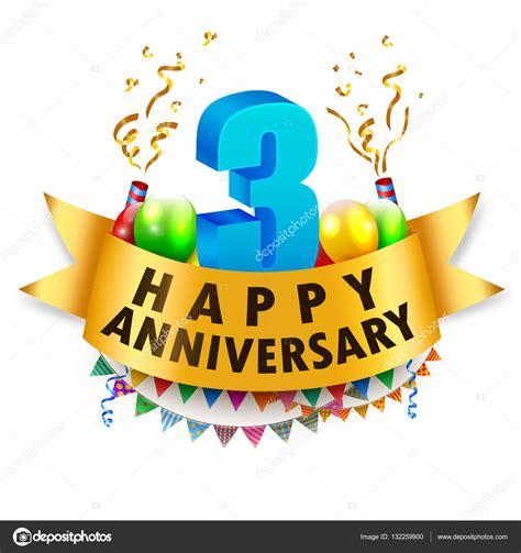 3rd year anniversary happy 3rd anniversary celebration stock vector 169 fightingfear 132259900