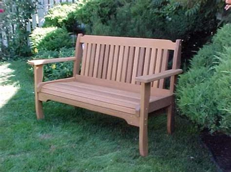 Cabbage Hill Garden Bench  Wood Country