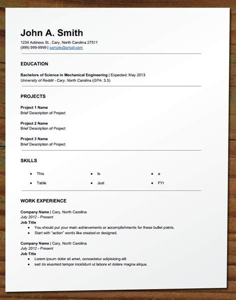 how to write a resume for part time 28 images doc